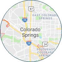 map image of colorado springs colorado