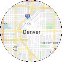 map image of denver colorado