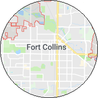 map image of ft collins colorado